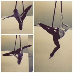 Aerial SLING, these aren't yoga poses ya'll