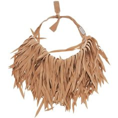Brunello Cucinelli Necklace (5.594.200 IDR) ❤ liked on Polyvore featuring jewelry, necklaces, khaki, fringe jewelry, fringe necklace and brunello cucinelli
