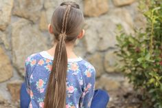 Fishtail Accented Ponytail   Cute Girls Hairstyles