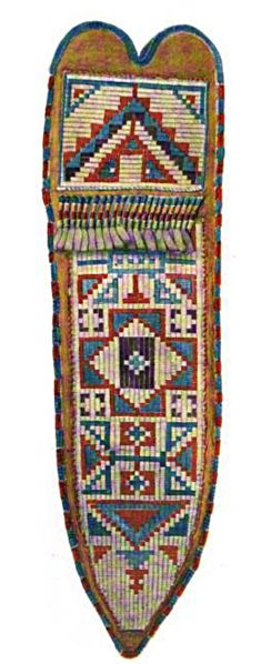 Crow Beadwork, Knife Sheath
