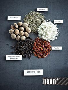 Pfeffersack & Söhne Basic spices Infographic | food photography by neon* fotografie, Anna Schneider