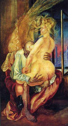 The Uneven Couple by Otto Dix Figure Painting, Painting & Drawing, Kathe Kollwitz, George Grosz, Degenerate Art, Art Database, Art Moderne, Art Abstrait, Otto Dix