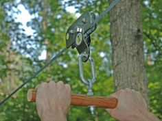 Zip lines are fun for all ages and you can make this backyard zip line in a weekend
