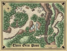 Fantasy Map Making, Fantasy City Map, Pathfinder Maps, Forest Map, Rpg Map, Dungeons And Dragons Art, Map Maker, Dragon Rpg, Dnd Art