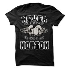 Never Underestimate The Power Of Team NORTON - 99 Cool Team Shirt !