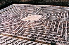 Roman Labyrinth mosaic from Itálica, Spain
