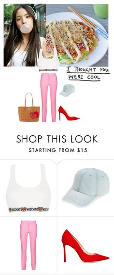 """""""Untitled #1270"""" by angelworlds21 ❤ liked on Polyvore featuring Moschino, Fantasia, Raoul, Jimmy Choo and MCM"""