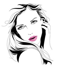 Most popular tags for this image include: girl, rostro, dibujo, drawing and fashion