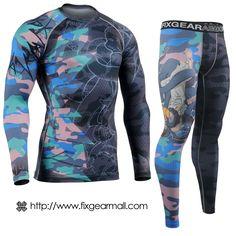 Fixgearmall - #FIXGEAR #Compression Base Layer Long Sleeve #Shirts & #Pants Set, model no CFL/FPL-H5-SET, Skin Tights and Advanced Performance Fabric. ( #AeroFIX ) #Workout #Fitness #Crossfit #Training #MMA #Jujitsu #Yoga #rashguard