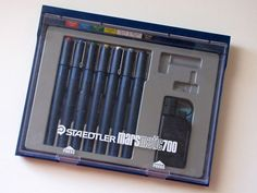 Staedtler marsmaticTechnical Pens — the set of Rapidograph stand-ins that got ALOT of mileage.