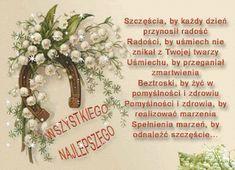 Gify i Obrazki: ŻYCZENIA URODZINOWE Grapevine Wreath, Motto, Birthday Wishes, Grape Vines, Blog, Decor, Good Night, Therapy, Cards