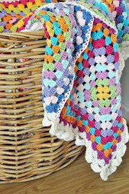 Colourful granny blanket at http://randihusom.blogspot.co.uk/