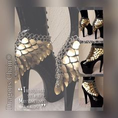 Heels Scale Jewelry – chainmail bra, metal bra, chainmail dress – Dragons Chain® Heels Scale Jewelry & # Chrissie & # Dragons Chain® by DragonsChain Maquillage Costume Medusa, Diy Schmuck, Schmuck Design, Dragon Costume, Chain Mail, Bra Chain, Costume Design, Body Jewelry