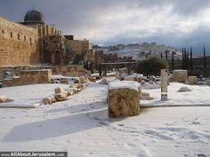 Jerusalem on a wintry day