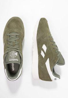 Schoenen Reebok Classic CLASSIC - Sneakers laag - canopy green chalk khaki   € 62 6ec2ec43a