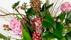 Gorgeous Garden Treasure Pineapple and Hyacinth in a Cologne pot | Ikebana Beautiful