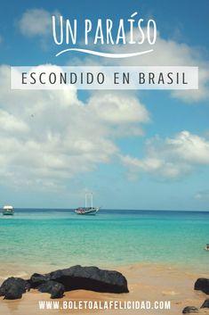 Una isla paradisíaca con playas protegidas de arena fina y agua color esmeralda, declarada Patrimonio de la Humanidad y que alberga una de las playas más lindas del mundo #noronha #brasil #playasmaslindasdelmundo #bestbeaches #baiadosancho #praiadosancho #travelers #viajeros Brazil, Wanderlust, Travel Blog, Nyc, Instagram, Beach, Water, Outdoor, Color