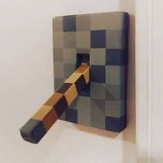 lever light switch Minecraft style for boys or girls bedroom bathroom decorating decor decorations Kids Bedroom Ideas Bathroom Bedroom Boys Decor Decorating Decorations Girls lever Light MInecraft style Switch Craft Minecraft, Minecraft Room Decor, Minecraft Party, Boys Minecraft Bedroom, Minecraft Houses, Minecraft Furniture, Lego Bedroom, Minecraft Skins, Cool Ideas