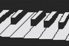 Cross Stitch Kit Musical Keyboard by FredSpools on Etsy