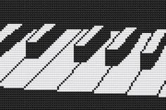 Cross Stitch Kit  Musical Keyboard by FredSpools on Etsy