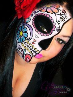 Image detail for -Nessa ♥s Makeup: Sugar Skull ♥---Love this Makeup!!!#LaMariposa