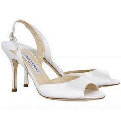 Jimmy Choo Laser Satin Peep Toe Slingbacks...a great shoe for the bride!