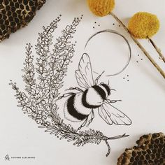 Finishing up lots of fun tattoo designs this week for awesome clients! 🐝 Note: Please respect my art & my clients by not stealing any of my designs for your own use. Body Art Tattoos, New Tattoos, Cool Tattoos, Fun Tattoo, Tatoos, Pretty Tattoos, Beautiful Tattoos, Bee Art, Future Tattoos