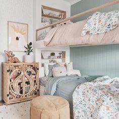 Dream Bedroom, Bedroom Wall, Girls Bedroom, Kids Room Accessories, House Beds, Kids Room Design, Little Girl Rooms, Guest Bedrooms, New Room