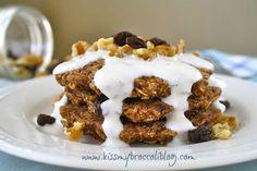 Oatmeal Raisin Flax Pancakes