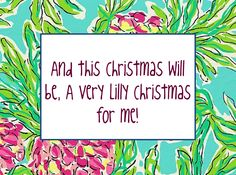 And this Christmas will be, a very Lilly Christmas for me! #LillyHoliday
