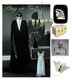 """""""Stay or Go?"""" by plumsandhoneyvintage ❤ liked on Polyvore featuring art and vintage"""