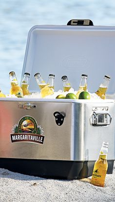 Keep your drinks refreshingly cold and the party going strong with our Margaritaville Escape to Paradise Cooler. | Margaritaville by Frontgate