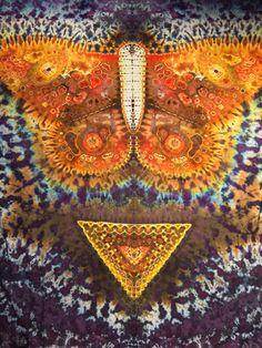 "Ice Dye Tapestry ""Ri"