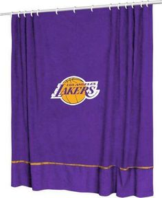 Los Angeles Lakers Sideline Shower Curtain Nba