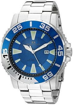 Oceanaut Men's 'Marletta' Quartz Stainless Steel Automatic Watch, Color:Silver-Toned (Model: OC2913) by Oceanaut -- Awesome products selected by Anna Churchill