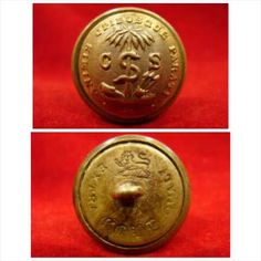 """SSBTN 38. South Carolina """"Palmetto Guard"""" Overcoat Coat Button.  SC 17 A , 24 mm. Rare, large Overcoat size button in superb condition. """"EXTRA GOLD QUAL'y"""" bm. These scarce buttons don't come around very often."""