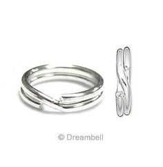 60 Pcs Sterling Silver .925 Round Split Jump Rings Wire 5mm For Charm / Findings