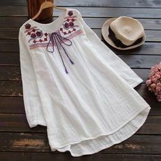 Cupshe Long Time Gone Embroidered Top