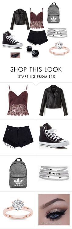 """""""Chloe's Outfit"""" by zoomj on Polyvore featuring Miss Selfridge, Converse, adidas and Boohoo"""
