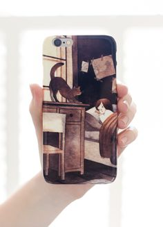 iPhones hate being naked. Give them something nice to wear, like these artist-designed phone cases from Redbubble.com.
