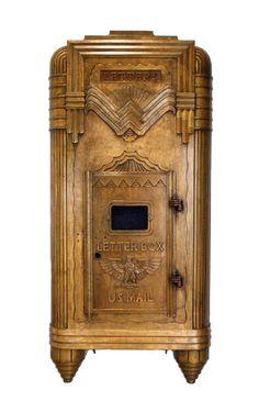 Steward Wagner, Mailbox from New York Central Terminal, 1929. Bronze, Buffalo mailbox, USA.