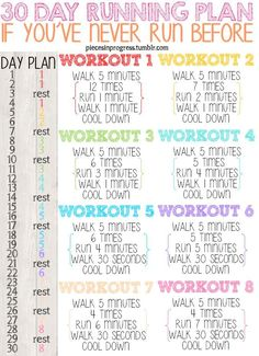 A Run for Everyone: A 30 Day Running Plan for Every Level and Goal - Pieces in Progress tumblr