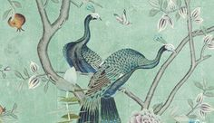 de Gournay produce a range of superbly created wallpapers including our Chinoiserie end Eclectic collections with vibrant and contrasting colours. Plain Wallpaper, Hand Painted Wallpaper, Fish Wallpaper, Painted Walls, Beautiful Wallpaper, De Gournay Wallpaper, Chinoiserie Wallpaper, Mural Painting, Silk Painting