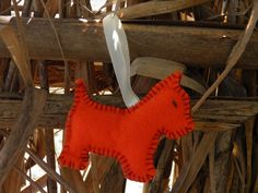 Porta-chaves (cão laranja)