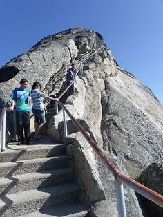 Climb 400 stairs to the top of Moro Rock in Sequoia National Park. Yep, did it....and was petrified 399 steps of the way. 2012 Great RV Adventure Part II.