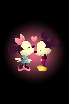 Minnie and Mickey Mouse iPhone 4 Wallpapers:
