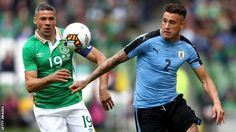 The Republic of Ireland warmed up for next weekend's World Cup qualifier against Austria by beating Uruguay. www.ae6688.com