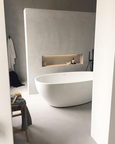 Bathroom Badkamer beton cire - Lilly is Love Open Bathroom, Modern Master Bathroom, Bathroom Goals, Concrete Bathroom, Bathroom Ideas, Bad Inspiration, Bathroom Inspiration, Shabby Chic Interiors, Shabby Chic Decor