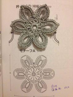 Crochet Flower - Chart by allie