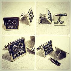 Colleras de Plata 950 diseño a pedido de regalo de la Novia para el Novio #matrimonio #hechura #hechoamano